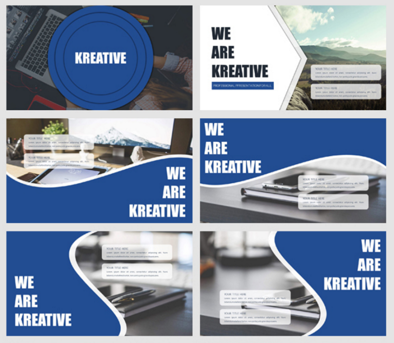 kreative clean powerpoint template 788x686