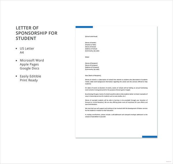 letter of sponsorship for student template1