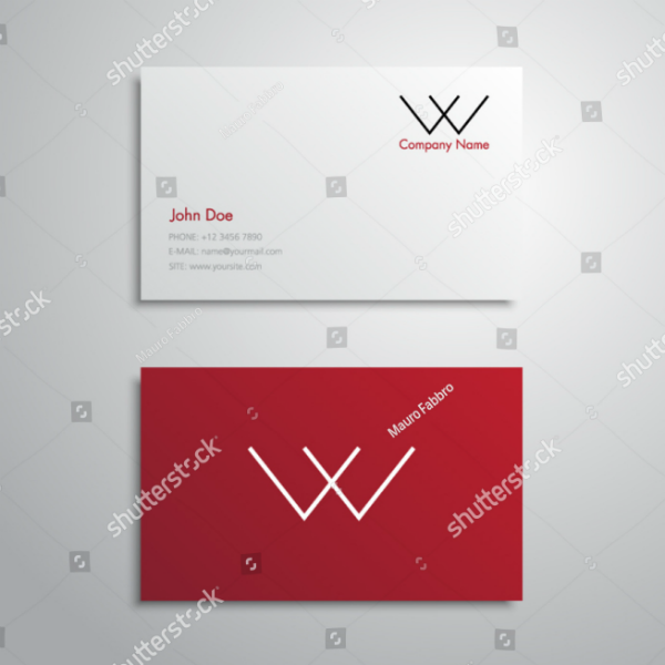 Lettermark Minimal Business Card Template