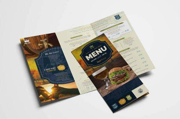 Local Pub Menu Template