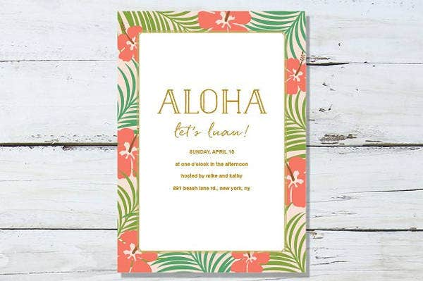 Luau Party Invitation Design
