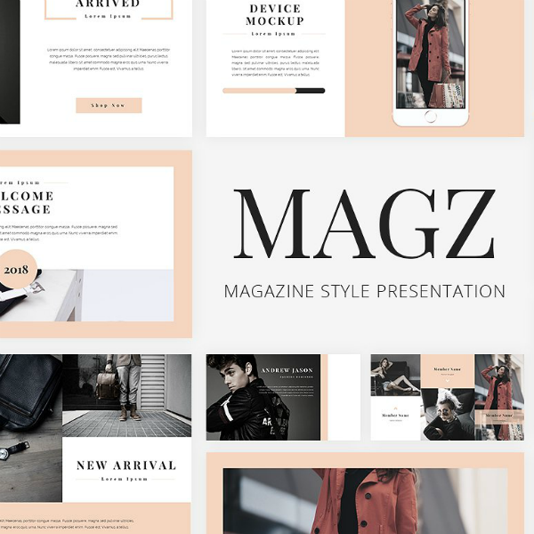 magz googleslide lookbook template