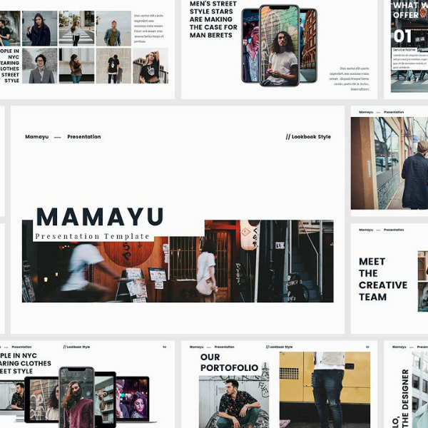 Mamayu Keynote Presentation Lookbook Template