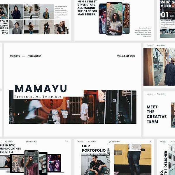 mamayu keynote presentation lookbook template