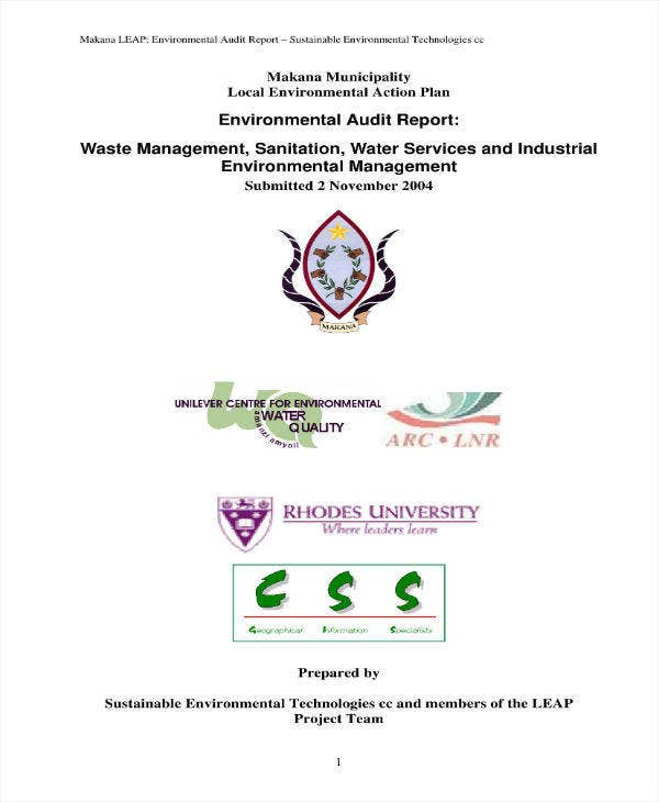 Management Environmental Audit Report