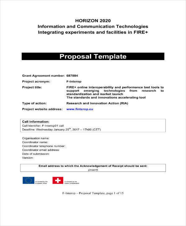 Management Proposal Template