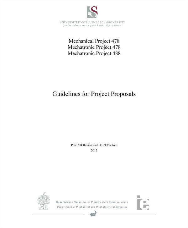 Mechanical Engineering Project Proposal Guideline