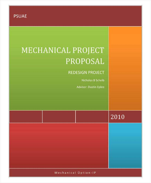 11 Engineering Project Proposal Templates Pdf Word