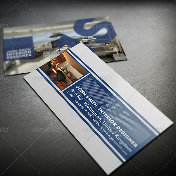 Media Interior Design Business Card Template