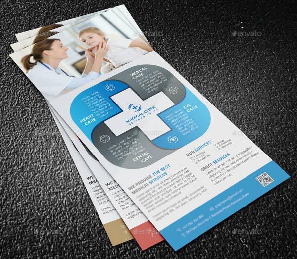 Medical Rack Card Template Design