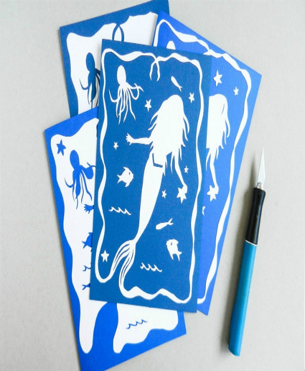 mermaid-and-fish-free-paper-cutting-template