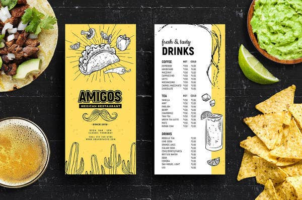 mexican-menu-rack-card-template