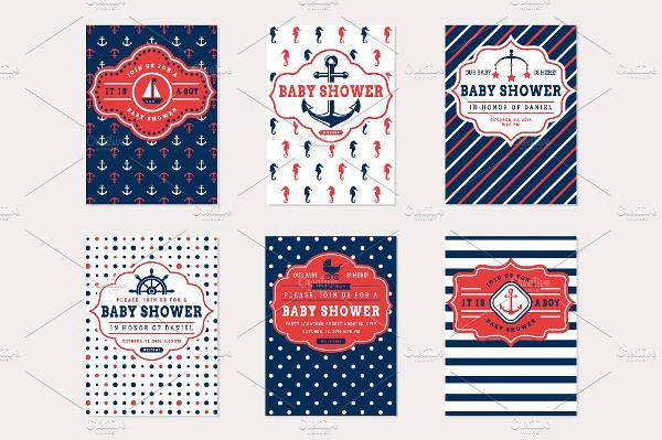 Minimal Baby Shower Card Design