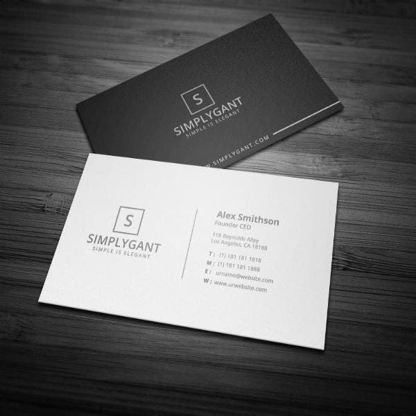 Minimal Business Card Example