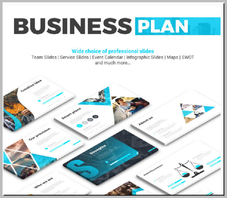 minimal business plan powerpoint template 788x686
