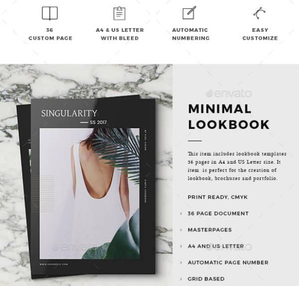 minimal lookbook template