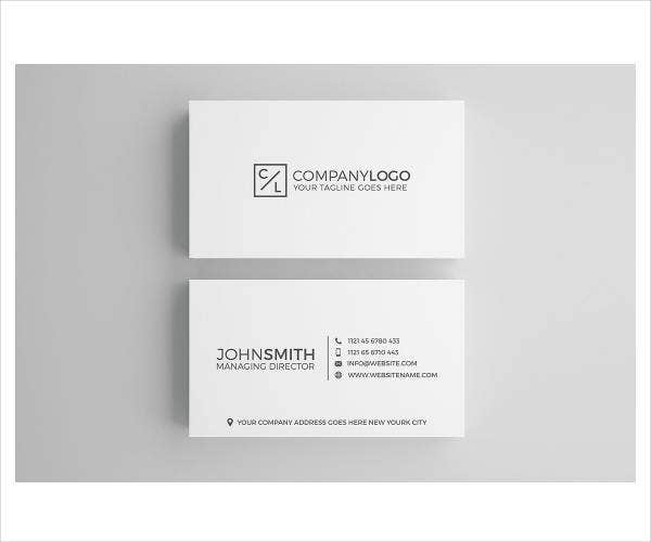 Minimal Modern Corporate Business Card
