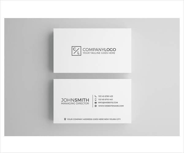 minimal modern corporate business card