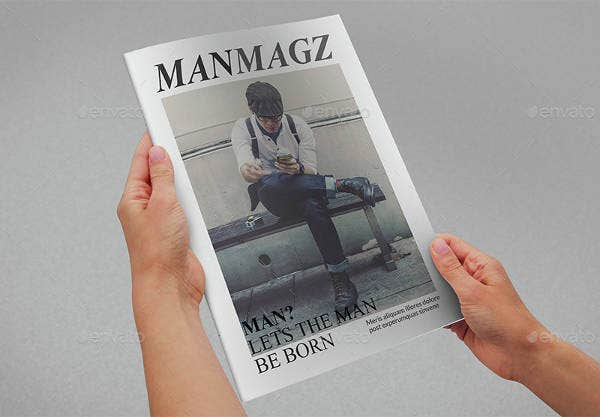 minimal photography magazine template
