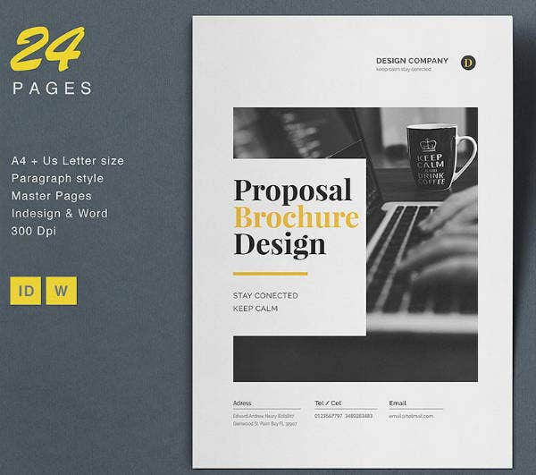 Minimal Proposal Brochure Design