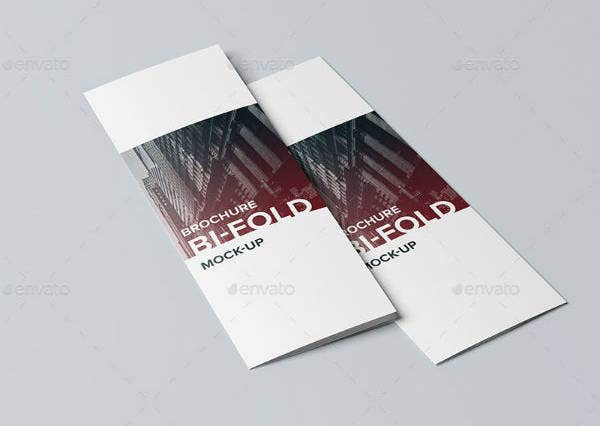 Minimalist Bi-Fold Vertical Brochure Template