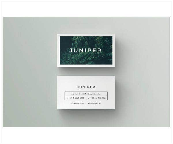 minimalist corporate business card sample