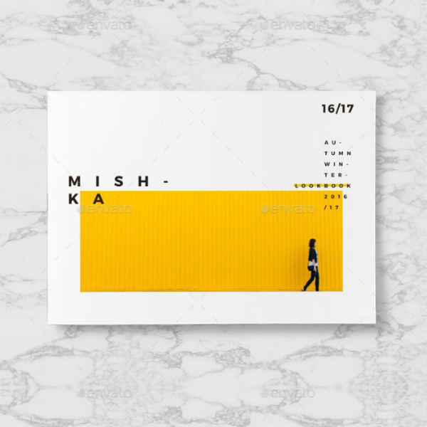 minimalist horizontal fashion lookbook template