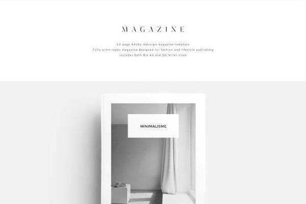 Minimalist Magazine Template