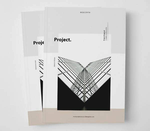 Minimalist Project Proposal Brochure Template