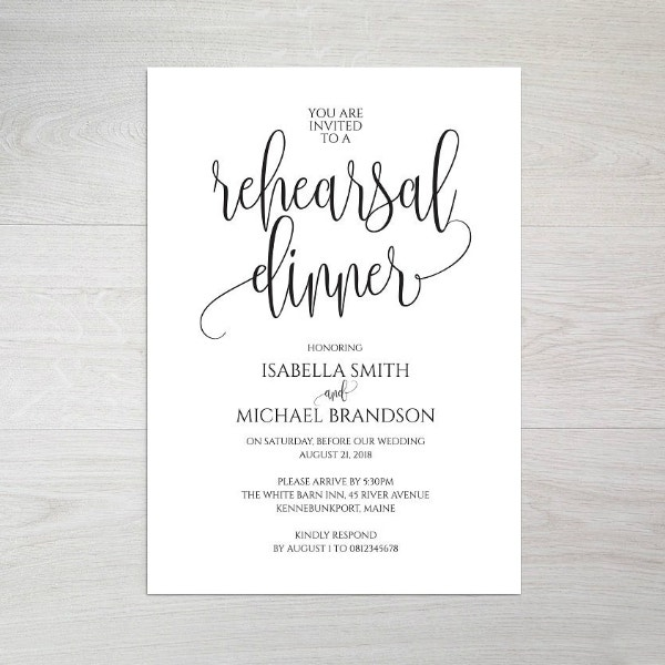 14 rehearsal dinner invitation templates psd ai free for Wedding rehearsal schedule template