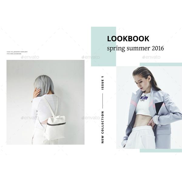minimalist spring summer lookbook template