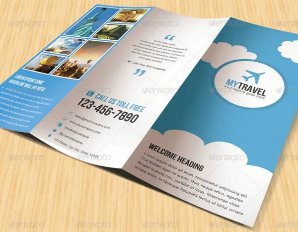 minimalist style travel trifold brochure