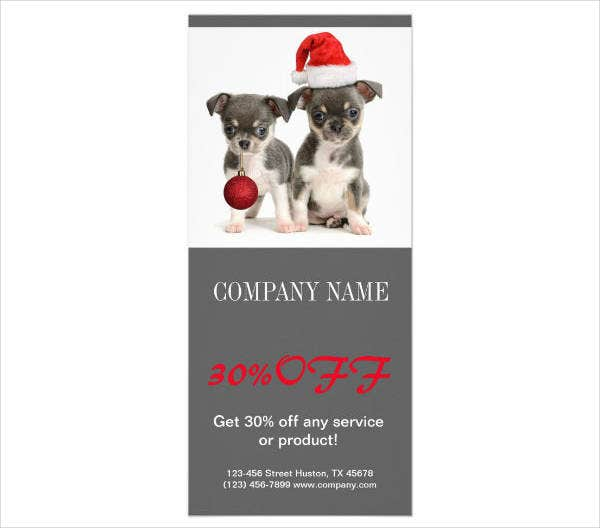 Modern Animal Daycare Rack Card Example