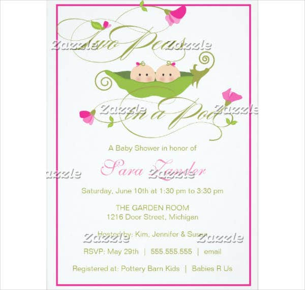Modern Baby Shower Invitation Example