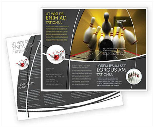 Modern Bowling Brochure Template