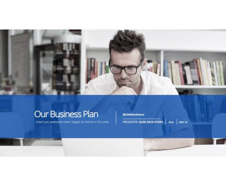 modern business plan powerpoint 788x649