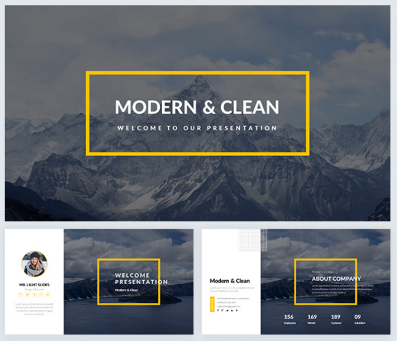 modern clean powerpoint template 788x678