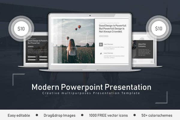 modern clean powerpoint example