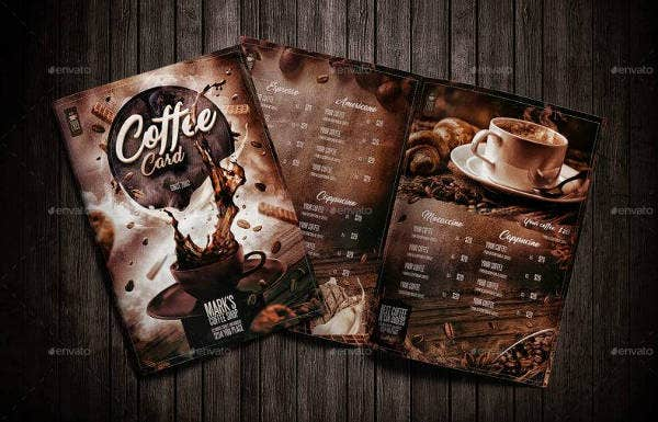 Modern Coffee Shop Menu Template