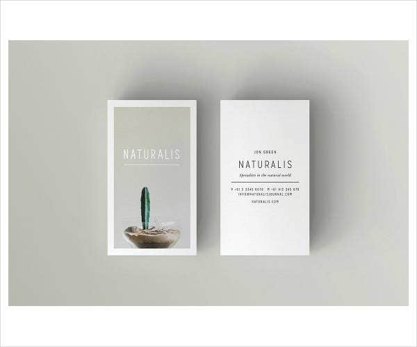 modern corporate business card example