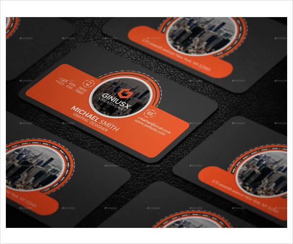 modern corporate business card sample