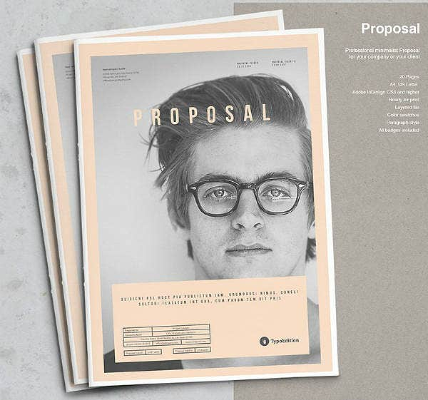 Modern Grunge Proposal Brochure Template