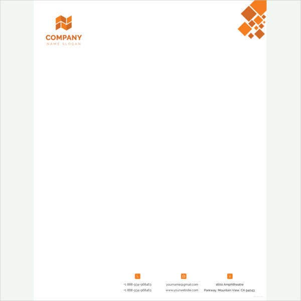 Word Letterhead Template | 35 Free Download Letterhead Templates In Microsoft Word Free