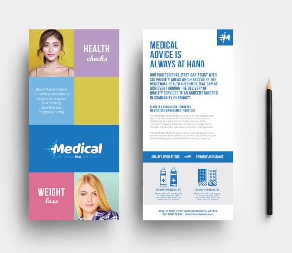 modern medical dl rack card template1
