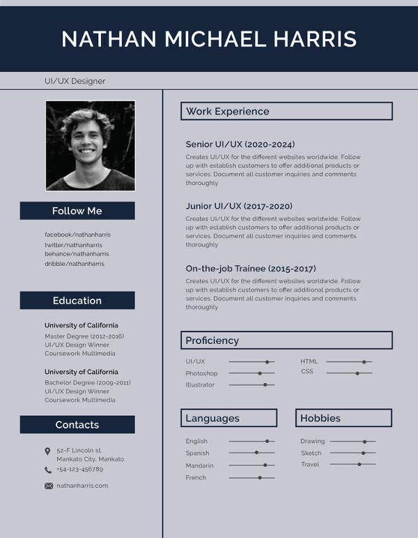 12  cv templates for job application