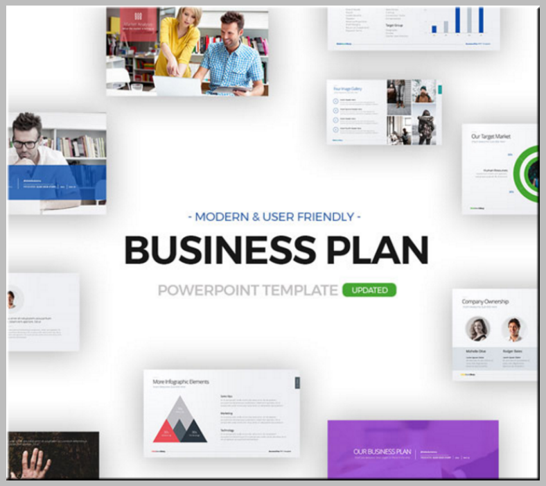 modern simple business plan powerpoint 788x701