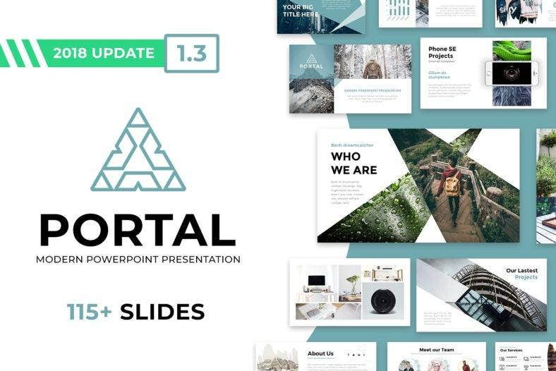 modern simple powerpoint template 788x526