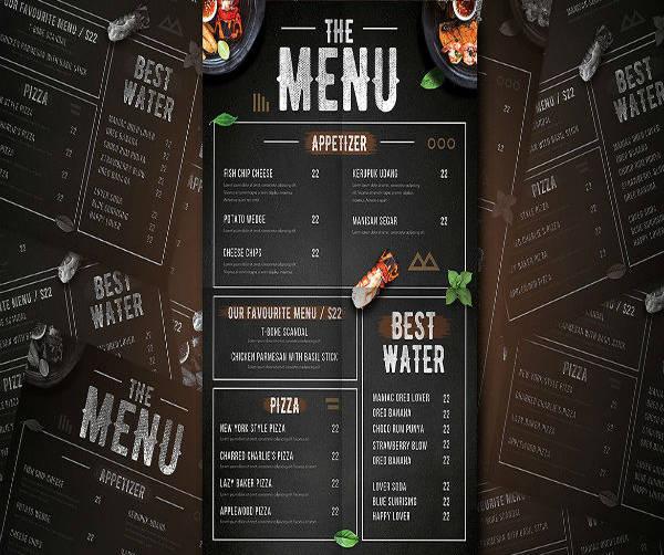 Modern Starter Food Menu Template