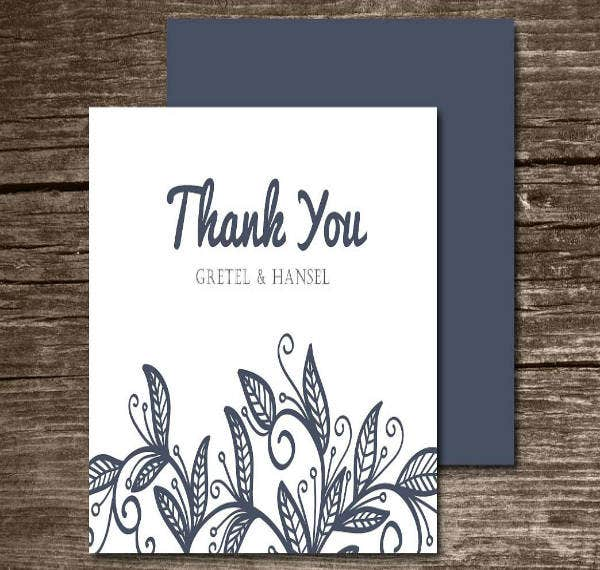 Modern Thank You Card for Wedding