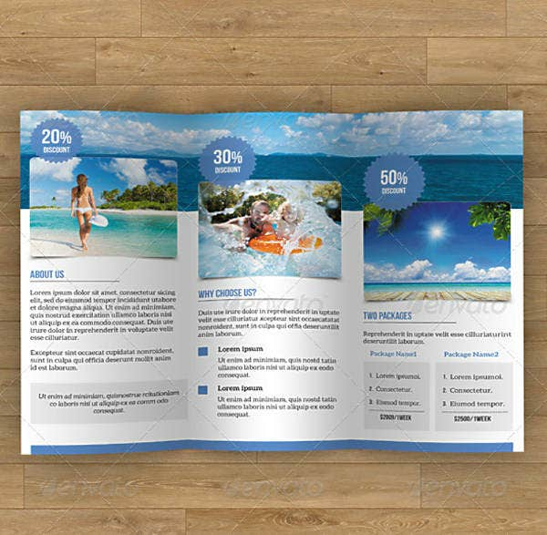 Modern Travel Trifold Brochure Template